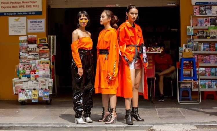 Tông màu cam được nhóm bạn này lựa chọn làm gam chủ đạo.