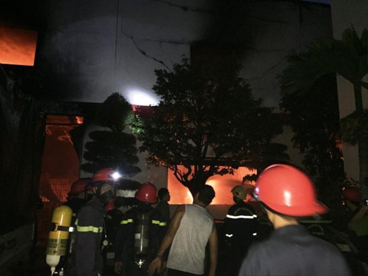 Hiện trường nơi xảy ra vụ cháy. Ảnh: K. Thái