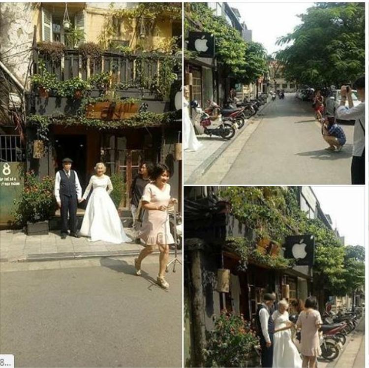 4 bức ảnh cưới của cặp đôi liên tục được nhiều bạn trẻ chia sẻ trên trang cá nhân.