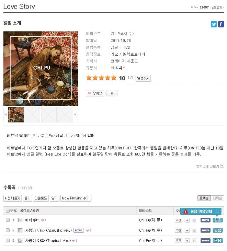 Naver và các trang nghe nhạc online lớn nhất tại xứ Kim chi.
