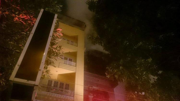 Quán karaoke nơi xảy ra hỏa hoạn.