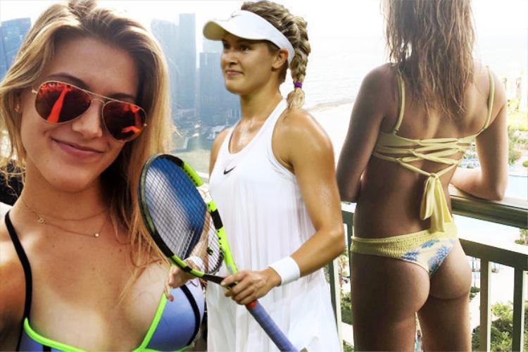 Mỹ nhân quần vợt Bouchard khiến fan xịt máu mũi ngày Hallowen