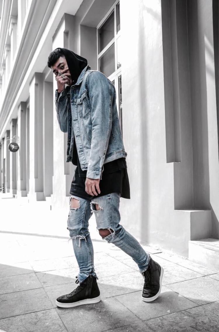 Denim-on-denim vẫn luôn là xu hướng mà các fashionista phát cuồng mỗi khi thời tiết se lạnh.