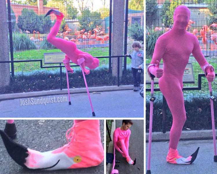 Mất một chân vì ung thư, chàng trai gây sốt khắp thế giới vì những bộ trang phục Halloween có 1-0-2