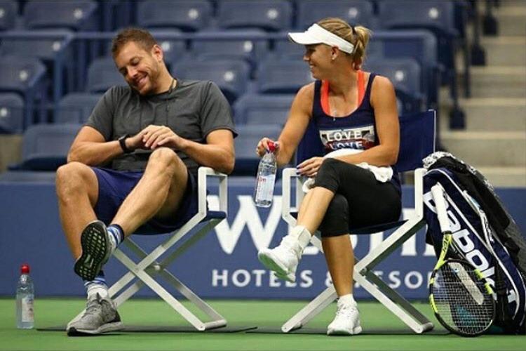 David Lee luôn cố gắng ở bên Wozniacki, kể cả khi cô tập luyện