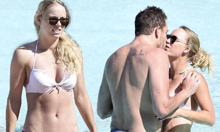 Wozniacki và Lee thể hiện tình cảm ở kỳ nghỉ tại Italy