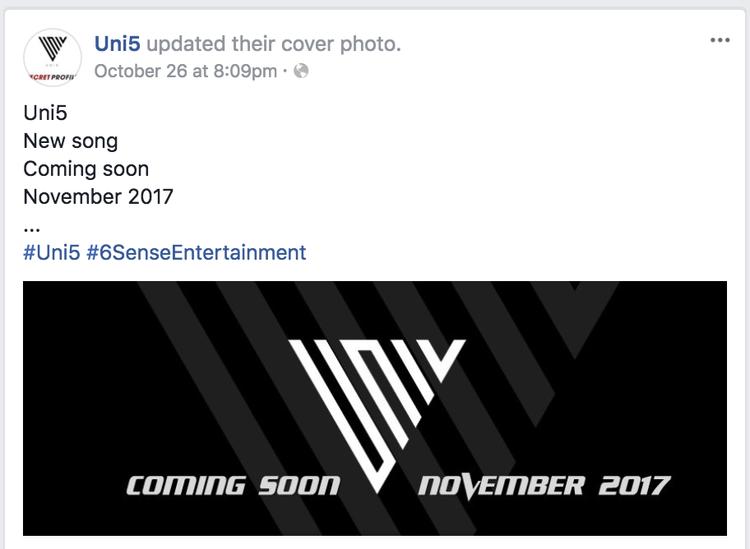 Nghi án Uni5 sắp tung MV mới giới thiệu thành viên thứ 3?