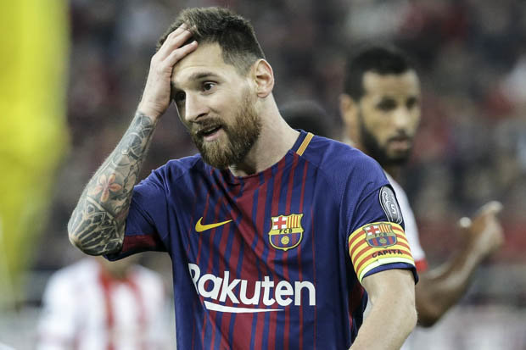 Messi tỏ ra thất vọng.