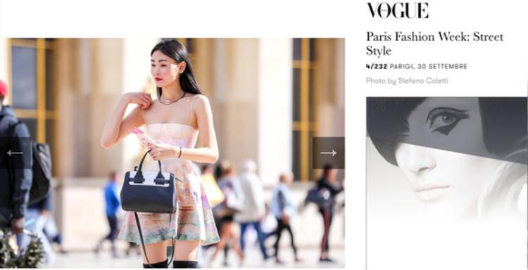 """Bộ trang phục treet style còn giúp cô """"lên thẳng"""" Vogue Ý!"""
