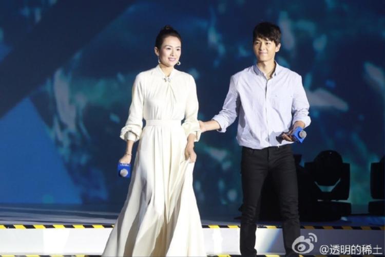 Đại Hoa đán hàng đầu C-biz Chương Tử Di đều hợp tác cùng vợ chồng Song - Song.