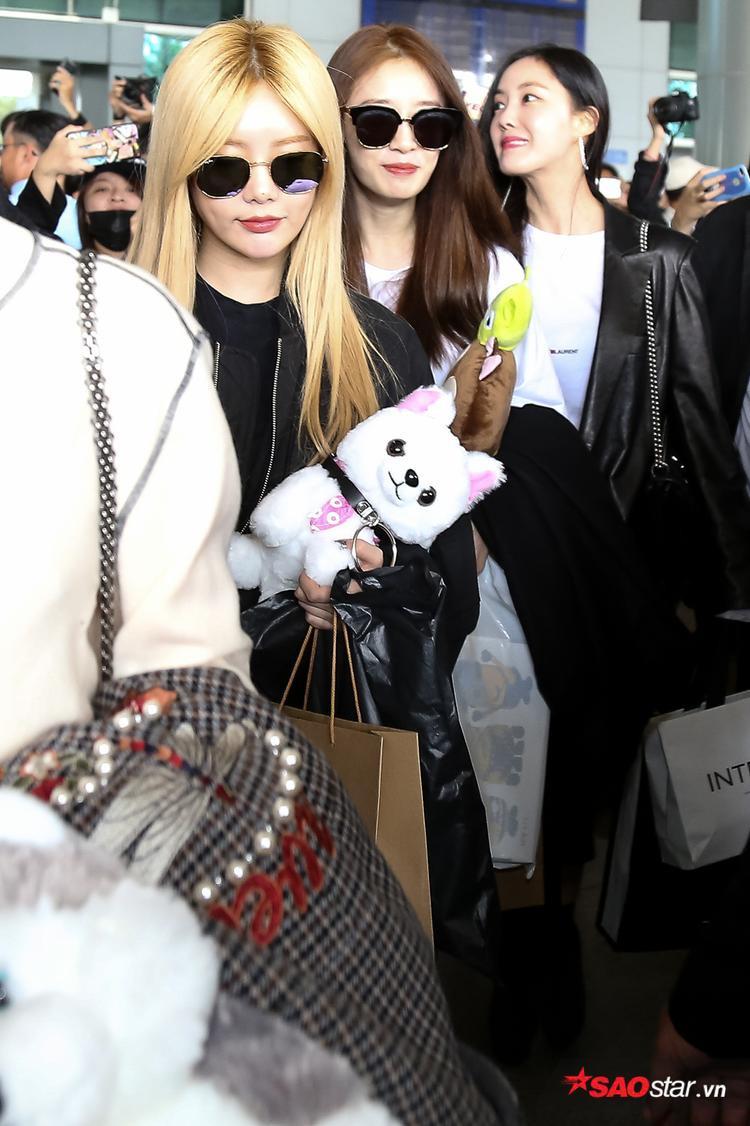 Qri, Jiyeon và Hyomin
