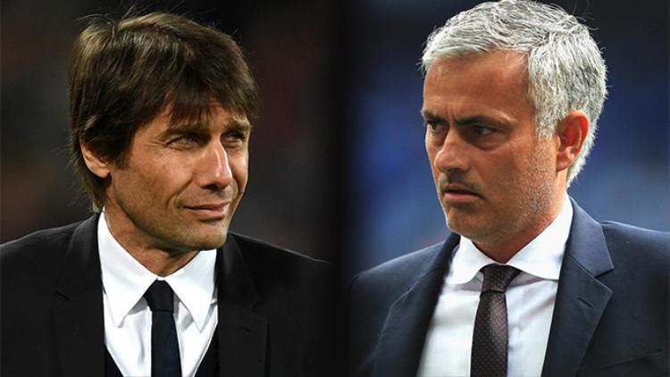 Conte cần phải thận trọng trước Mourinho (phải)