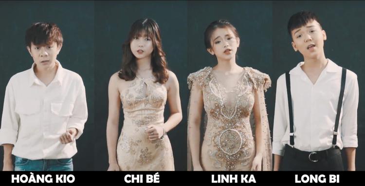 Tạo hình của nhóm bạn trẻ trong MV.