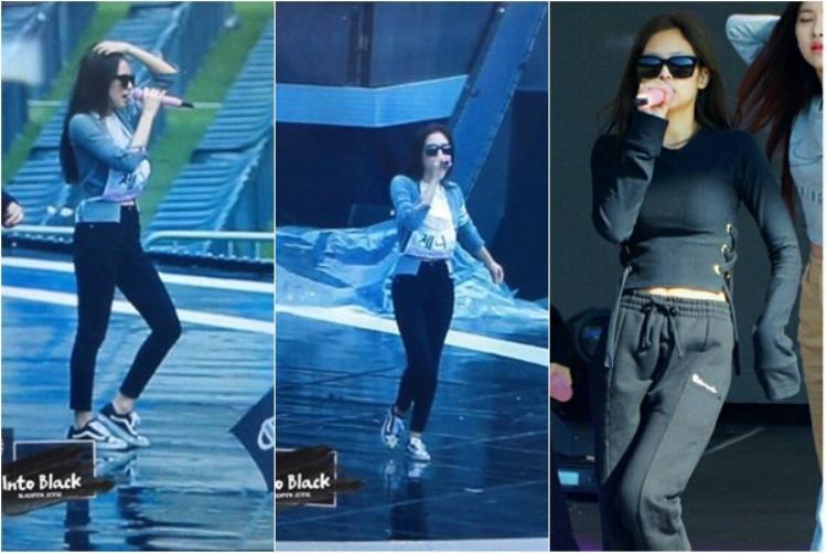 Jennie bị chỉ trích vì đeo kính di chuyển trên sân khấu tập luyện.