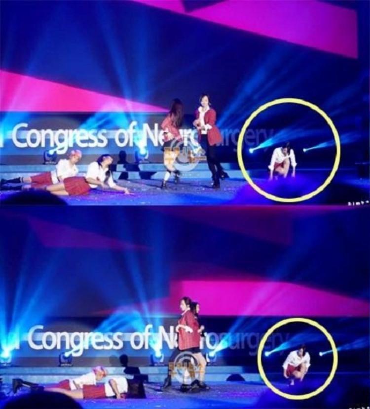 Sulli khiến fan khó chịu vì không chịu nằm rạp xuống đất như các thành viên khác mà chỉ ngồi xổm trên sân khấu để thực hiện phần trình diễn.