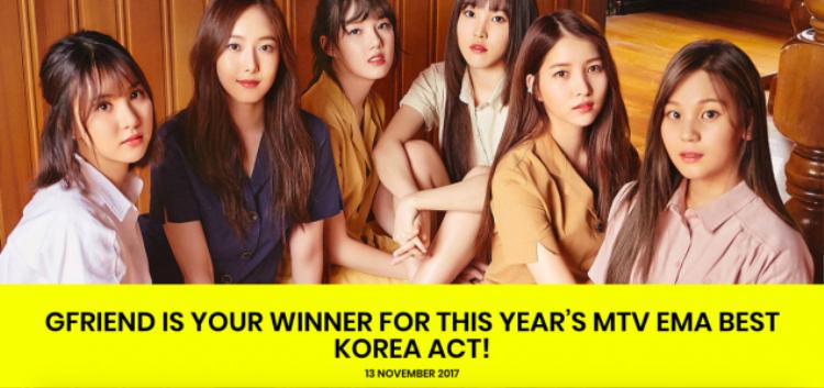 Xin chúc mừng các cô nàng G-Friend là nhóm nhạc nữ Kpop đầu tiên dành được giải thưởng tại lễ trao giải danh giá này!