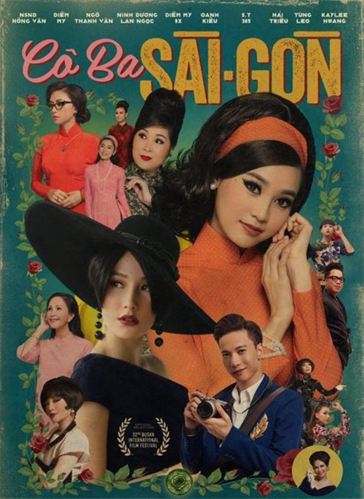 """Poster quảng bá phim """"Cô Ba Sài Gòn"""" đã cho thấy thời trang trong phim mang đậm âm hưởng những năm 1960."""