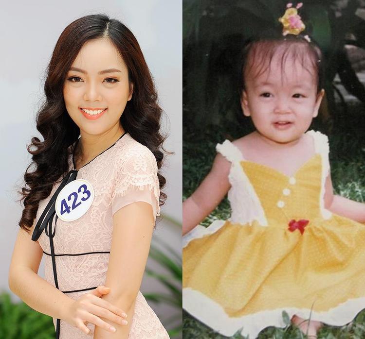 Vóc dáng tròn trịa cùng gương mặt bụ bẫm của Vân Anh không thay đổi nhiều so với quá khứ. Tuy nhiên, cô cần phải tích cực giảm cân nếu muốn tiến sâu hơn ở Miss Universe Vietnam 2017.