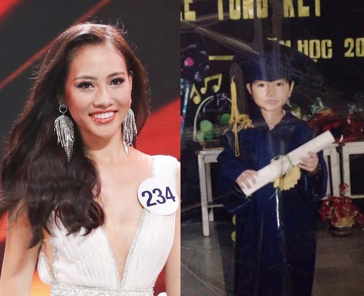 Thuỳ Trang trông khá giống con trai lúc nhỏ, tuy nhiên hiện tại cô đã thay đổi rất nhiều. Sở hữu chiều cao đáng ngưỡng mộ 1,80 m cùng gương mặt cuốn hút, người đẹp gốc Huế nhận được sự đánh giá cao từ Ban giám khảo nhờ biết cách thay đổi bản thân và có sự trưởng thành hơn ở Hoa hậu Hoàn vũ Việt Nam năm nay.