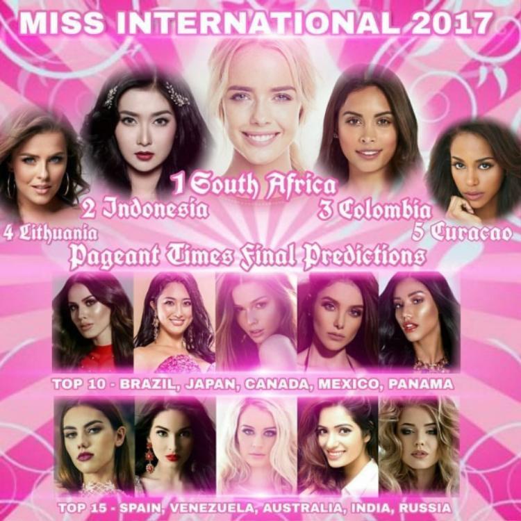 Á hậu Thùy Dung không có mặt trong top 15của các chuyên trang sắc đẹp uy tín Global Beauties, Missosology và Pageant Times.