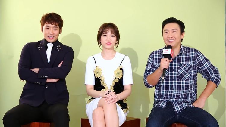 Hari Won, Tuấn Trần và đạo diễn Huy Trần.