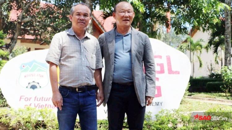 Bầu Đức kỳ vọng HLV Park Hang Seo thành công cùng ĐTVN. Ảnh: Đình Thảo