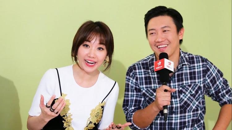 Hari Won và đạo diễn Huy Trần.