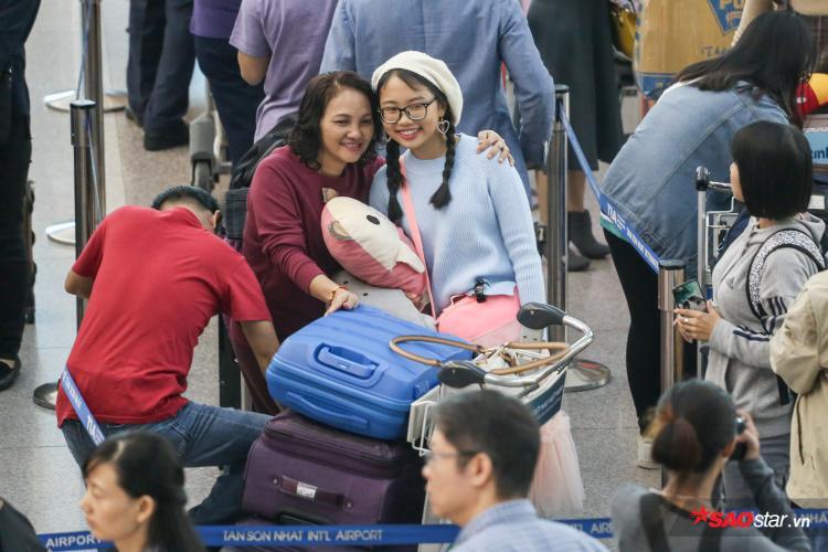 Mẹ của Phương Mỹ Chi sẽ đồng hành cùng con gái trong chuyến đi.