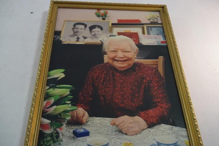 Hình ảnh cụ bà Hoàng Thị Minh Hồ khi còn sống.