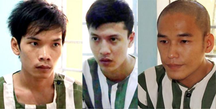 3 kẻ thủ ác trong vụ thảm sát gồm Vũ Văn Tiến, Nguyễn Hải Dương và Trần Đình Thoại (từ trái sang phải).