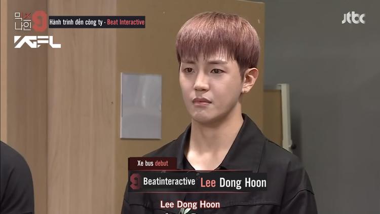 Thực tập sinh Lee Dong Hoon đã nhận được chiếc vé vinh dự lên xe debut.