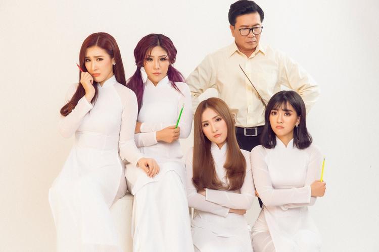 Học trò Ông Cao Thắng - Đông Nhi hoá 4 cô nữ sinh trong single trở lại.