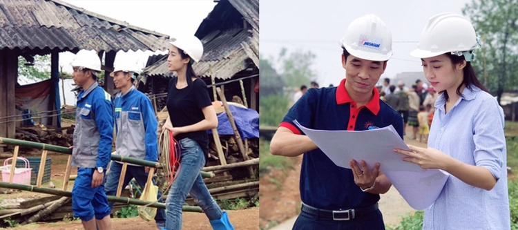 Đỗ Mỹ Linh không quản ngại để tìm hiểu những khó khăn của bà con dân bản nơi đây rồi tìm cách mang điện trở lại bản Cù Vai, tỉnh Yên Bái.