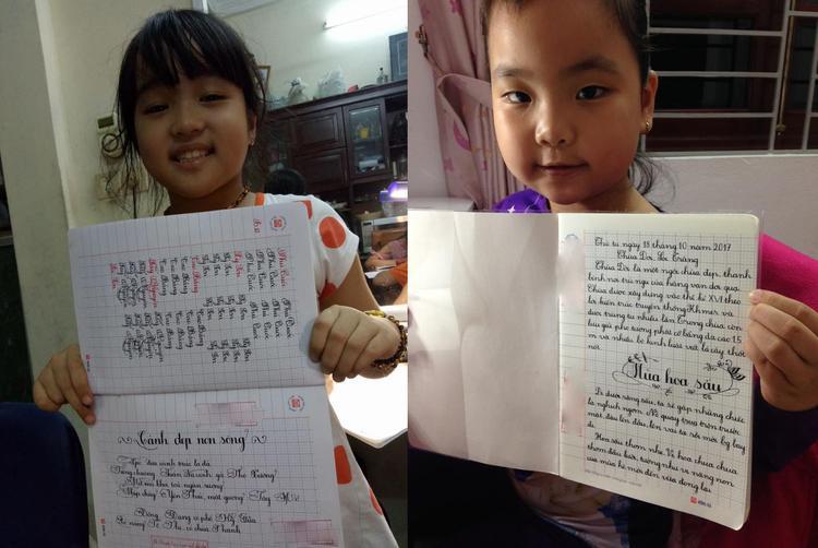 Các học sinh của cô giáo Thanh tiến bộ rõ rệt chỉ sau vài buổi học.