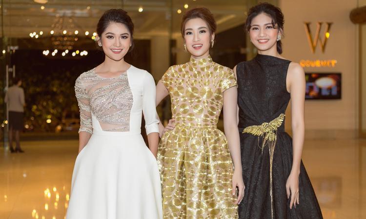 """Cả Thùy Dung và Thanh Tú đều đặt trọn niềm tin vào Đỗ Mỹ Linh và hi vọng """"người chị em tốt"""" sẽ tỏa sáng trên sân khấu chung kết Hoa hậu Thế giới 2017."""