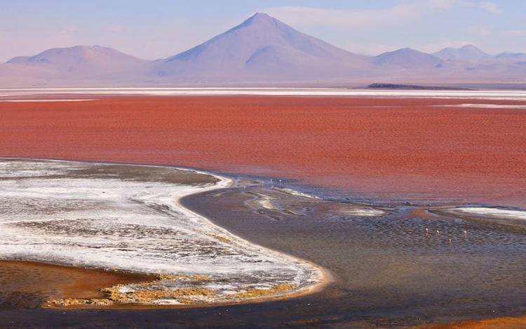 14. Salar de Uyuni, Bolivia: Cánh đồng muối lớn nhất thế giới này có nguồn gốc từ các hồ nước có từ thời tiền sử, cũng là nơi chiếm ½ thế giới trữ lượng liti của thế giới.