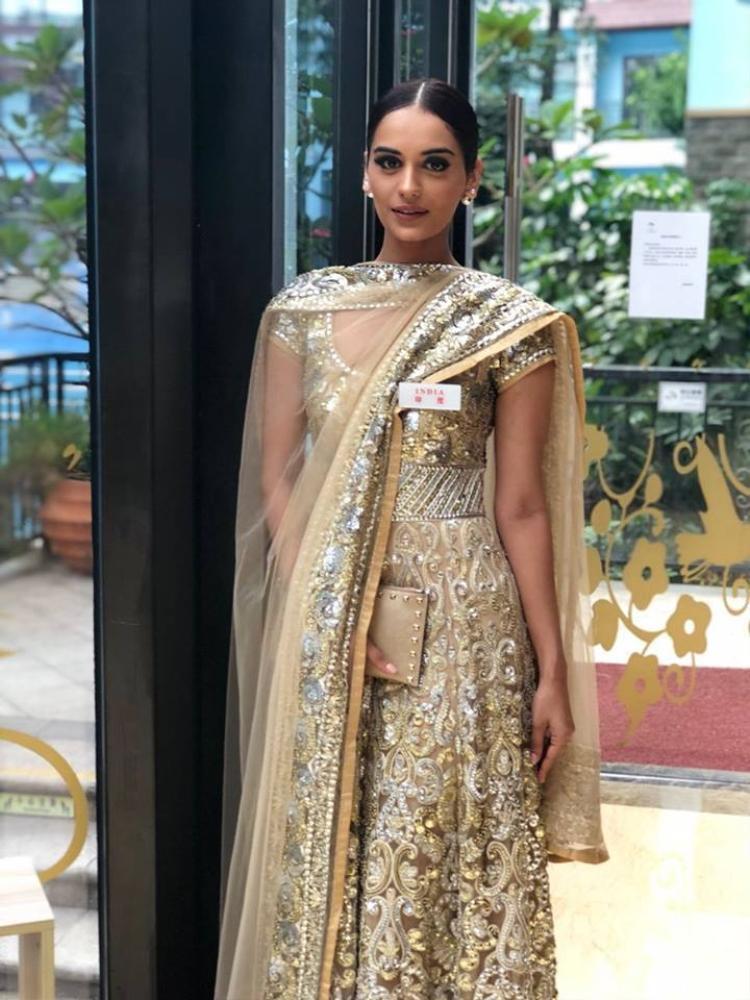 Manushi Chhillar đăng quang Hoa hậu Ấn Độ trước khi dự thi Miss World 2017.