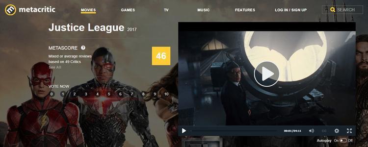 cho đến Metacritic