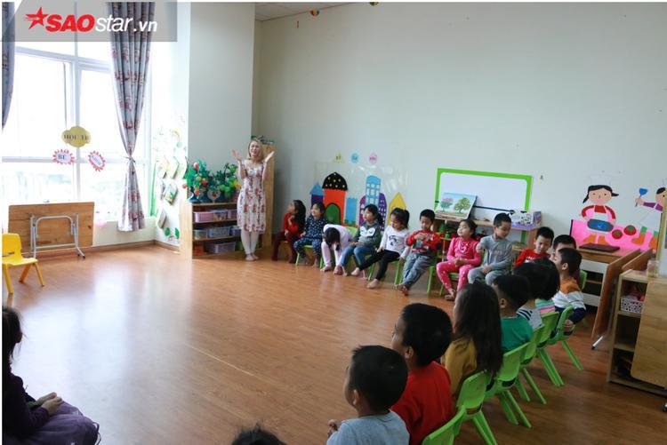 Lớp học hòa nhập tại trường Tuổi Thơ.