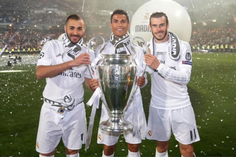 Benzema, Ronaldo và Bale (từ trái sang) đang gặp khó khăn trong việc ghi bàn ở mùa giải này.