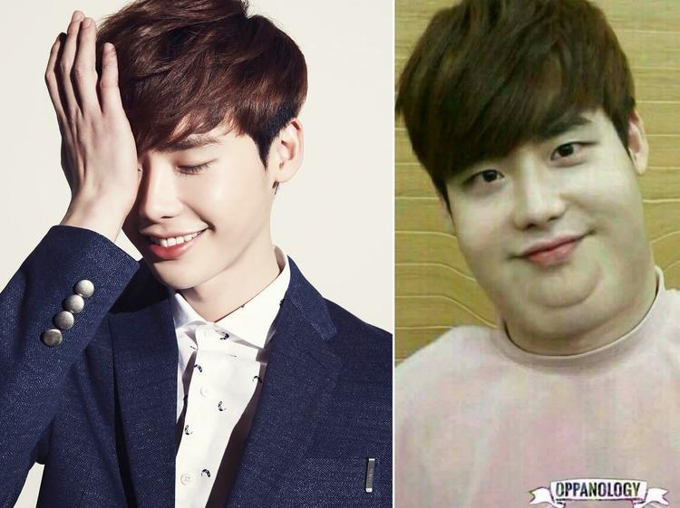 """Soái ca While you were sleeping Lee Jong Suk phiên bản hai cằm vẫn khá """"đáng yêu""""."""