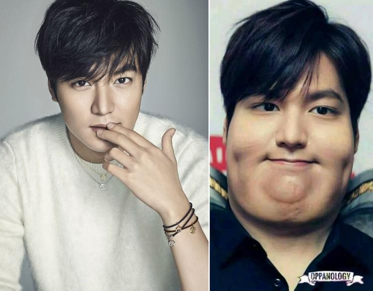 Bức hình có lẽ sẽ là động lực giúp Lee Min Ho luôn ăn uống khoa học, tập luyện giữ dáng.
