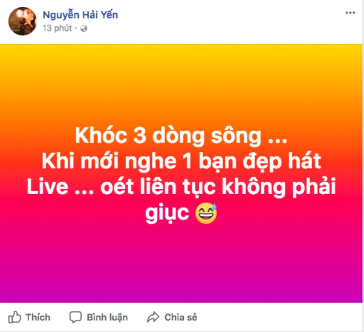 …và Hải Yến Idol đã lên tiếng về việc Chi Pu hát live thều thào.