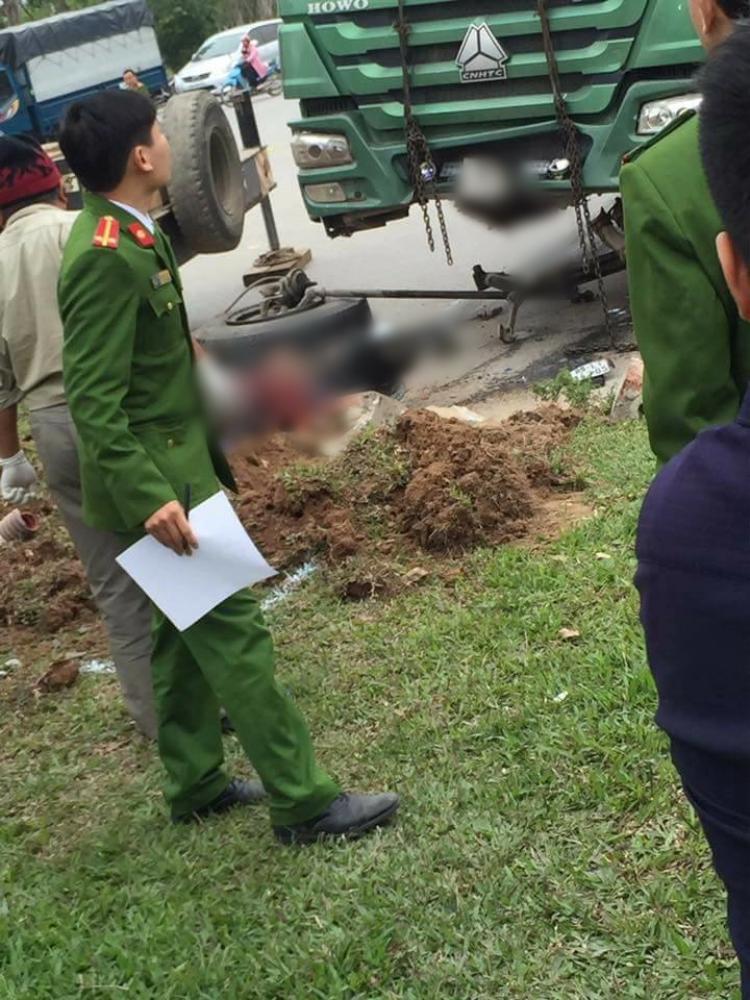 Vụ tai nạn khiến một người tử vong tại chỗ.