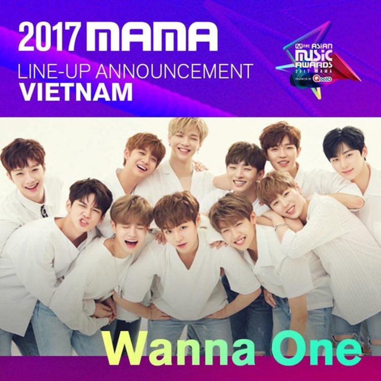 Wanna One sẽ có mặt ở lễ trao giải MAMAtổ chức tại Việt Nam tối 25/11 này.