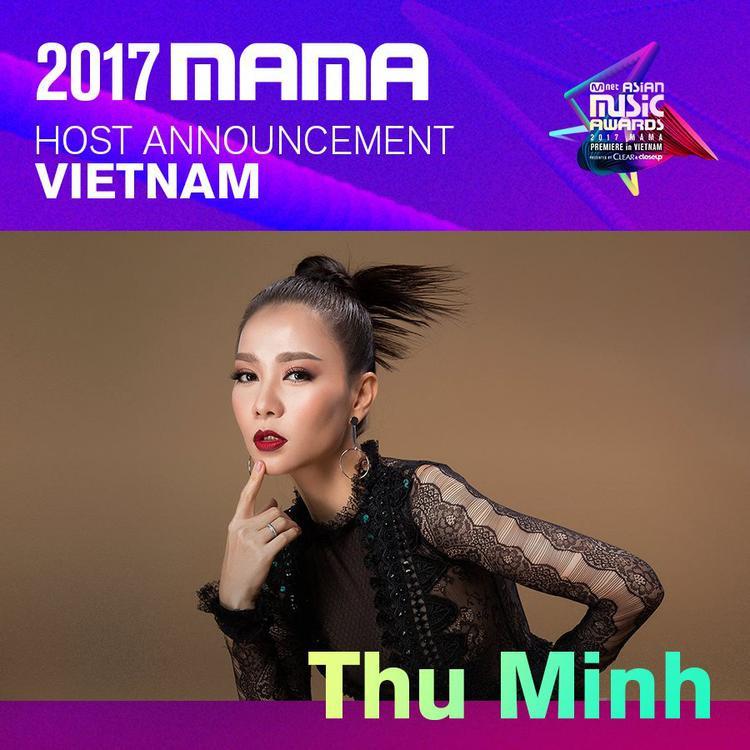 Thu Minh chính thức được xác nhận là host của MAMA tại Việt Nam.