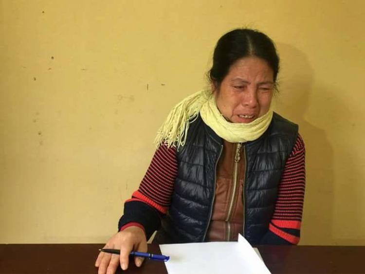 Bà Nguyễn Thị Hàn tại cơ quan công an. Ảnh CAND