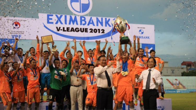 SHB Đà Nẵng vô địch V-League 2012 một cách 'ngoạn mục'. Ảnh: Giáo Dục VN