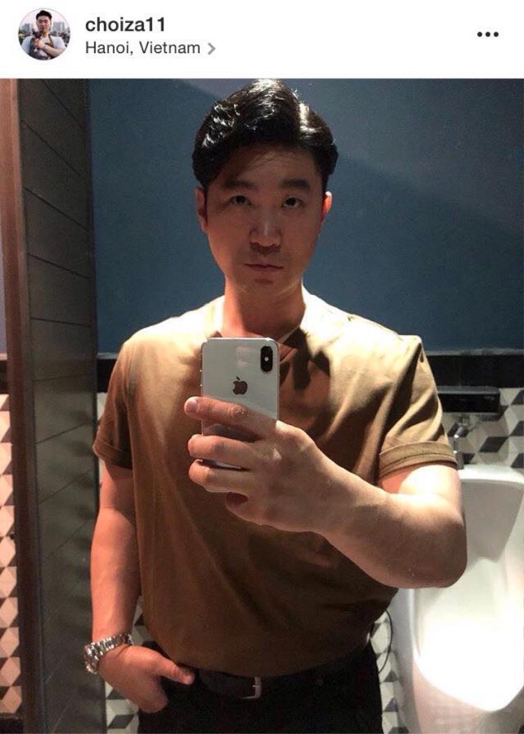 Tấm hình selfie của Choiza khi đến Hà Nội