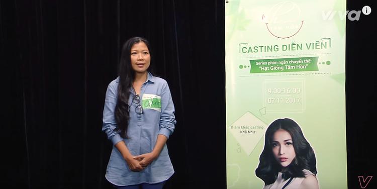 Thí sinh số 114 chia sẻ tâm trạng hào hứng khi được tham dự cuộc thi casting.